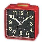 Casio TQ140 Travel Alarm Clock - Red Clock