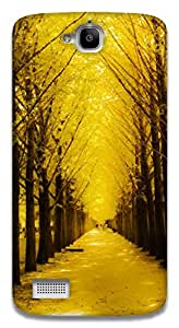 The Racoon Lean golden path hard plastic printed back case / cover for Huawei Honor Holly