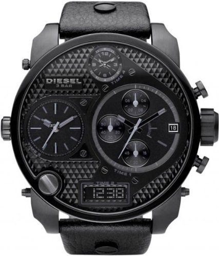 Diesel #DZ7193 Men's Oversized Analog Digital Quad Time Zone Chronograph Watch