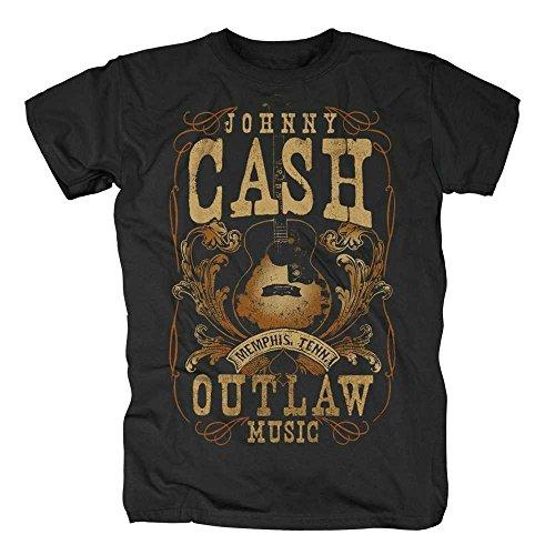 original Johnny Cash T-shirt da uomo menphi da tennis Nero misura S-XL