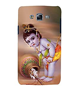 Fuson Premium Back Case Cover Lord krishna With Brown Background Degined For Samsung Galaxy Grand Neo Plus::Samsung Galaxy Grand Neo Plus i9060i