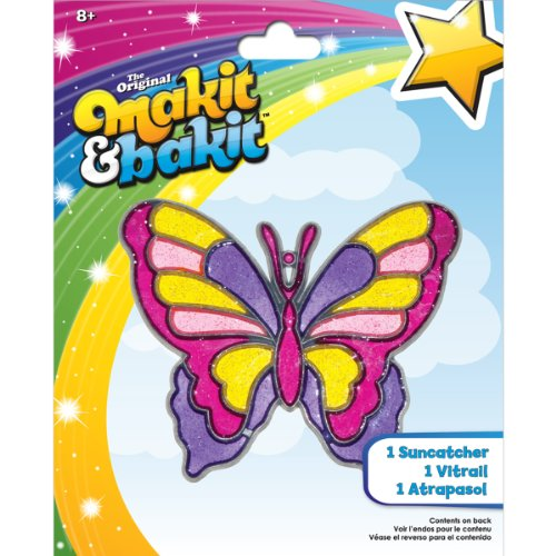Colorbok Makit and Bakit Suncatcher Kit-Large Butterfly
