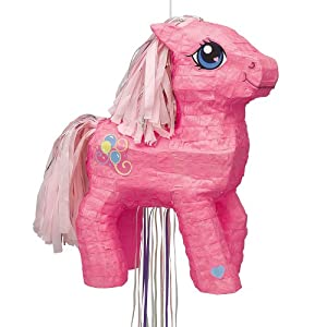Unique 3D My Little Pony Pinata, Pull-String, Pink by Unique