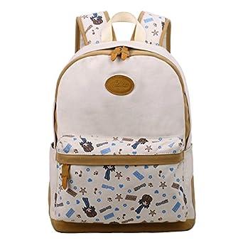 Amazon.com: Tinotrade Girly School Backpack Cute Canvas