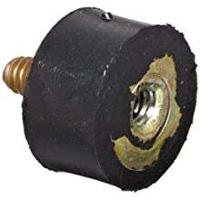 "Rubber Vibration Dampening Mount, #1/4-20 x .25""L Double Threaded Mount, .43""OD x .4""L Rubber"
