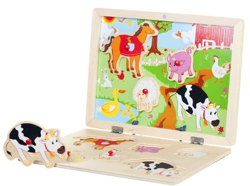 Picture of Bead Bazaar Down on the Farm - Magnetic Puzzle (B004RJ4ZRE) (Pegged Puzzles)