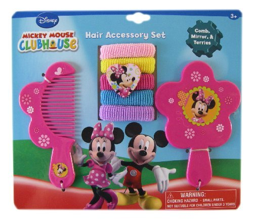 Mickey Mouse Clubhouse 7pc Minnie Mouse Hair Accessory Set - Minnie Vanity Set - Minnie Hair Set - 1