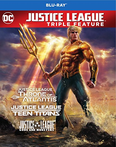 Blu-ray : Justice League Vs. Teen Titans / Gods and Monsters / Throne of Atlantis (3 Pack, Repackaged, Eco Amaray Case, 3 Disc)