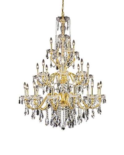 Crystal Lighting St. Francis 24-Light Chandelier, Gold