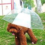 "Lesypet Pet Umbrella Dog Umbrellar With Leash, Fits 23"" Back Length"