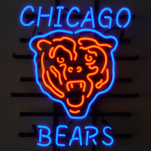 Chicago Bears Neon Light Bears Neon Sign Neon Bears Light