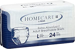 Attends Incontinence Care Breathable Briefs for Adults, Large, 72 Count from Attends Healthcare Products, Inc.
