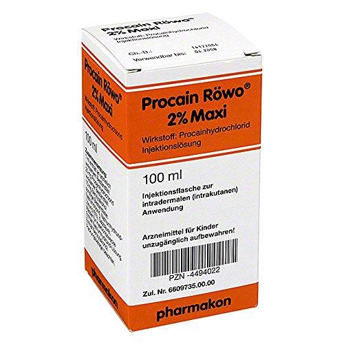 procain roewo 2% maxi injektionsflaschen 100 ml
