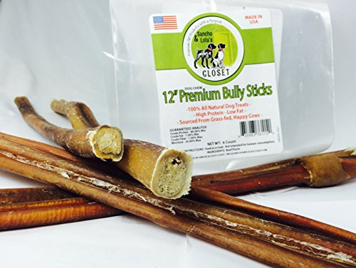 12 medium sized bully sticks for dogs made in usa slim thick sizes when available 100. Black Bedroom Furniture Sets. Home Design Ideas