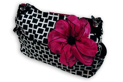 Caught Ya Lookin' Chic Diaper Bag, Black and White