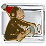 Pugster Happy Birthday Curious George Animal Disney Monkey Licensed Italian Charms Bracelet Link