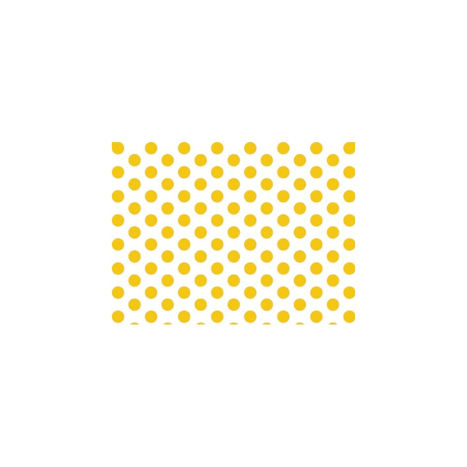 Yellow Polka Dot Tissue Paper 20x30   24 Sheets