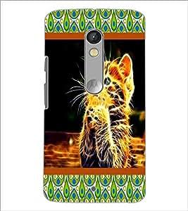 PrintDhaba Digital Kitty D-6045 Back Case Cover for MOTOROLA MOTO X PLAY (Multi-Coloured)