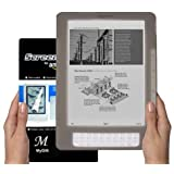 Amazon Kindle DX 9.7 inch E-Book Reader (SMOKE) Silicone Skin Rubber Case + LCD Screen Protector ~ MyGift