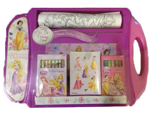 Disney Princess Portable Rolling Paper Art Desk