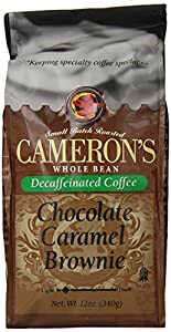 Cameron's Chocolate Caramel Brownie Whole Bean Decaf Coffee, 12-Ounce Bags (Pack of 3)