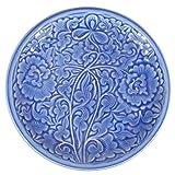 セラドン焼き セラドンブルー 丸皿(大皿/25.5cm) [並行輸入品]