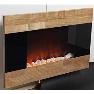 Electric Fireplace Wall Mount Space Heater Indoor Wooden Front Finish by  Ideas in LifeTop 10 Best Wall Mounted Electric Fireplace Reviews 2018. Electric Wall Fireplace Heaters. Home Design Ideas