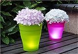 Instapark® Flower Power Color changing LED Plant Pot (White)