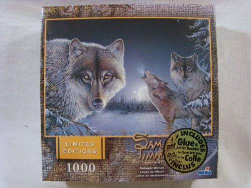 Sam Timm 1000 Piece Jigsaw Puzzle: Midnight Wolves - 1