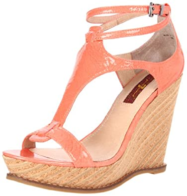 7 For All Mankind Women's Rayn Sandal,Coral,10 M US
