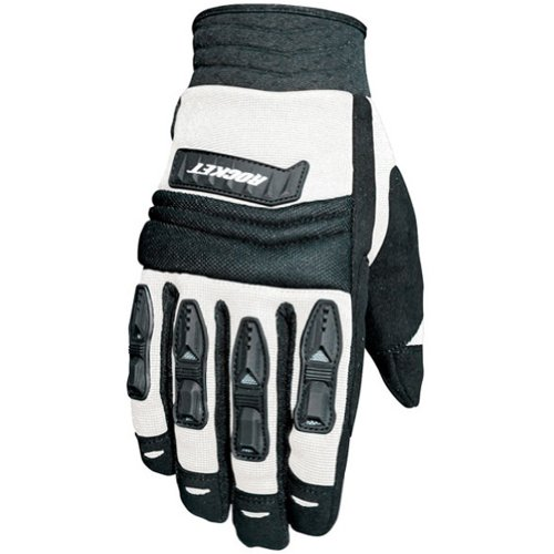 Joe Rocket Velocity Men's Textile Sports Bike Racing Motorcycle Gloves - White/Black / Large