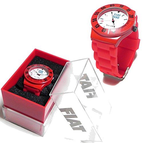 montre-en-metal-luci-benzina-olio-fiat-500-rouge