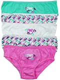 Girls Pack of 5 Hearts Print Cotton Briefs Knickers Underwear Pants from 2 to 13 Years