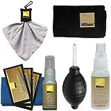 Nikon Cleaning Combo Kit: Nikon 3-Piece Lens Cleaning Kit + Anti-fog Cloth + Spudz + Spray Bottle + Blower for D4S, D800, D610, D7100, D7000, D5300, D5200, D3300, D3200 Digital SLR Cameras & Lenses