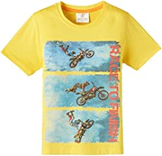 Joshua Tree Boy's T-Shirt (JT_TEE_B 019_Yellow_3-4 years)