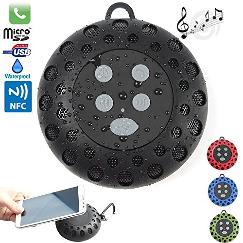 Wfy-Mall(Tm) 2014 Latest Brand New Mini Best Portable Waterproof Wireless Bluetooth Shower Speaker Ipx4 Handsfree Speakerphone Water Resistant Compatible,Bulit-In Microphone Hands-Free ,With All Bluetooth Devices For Outdoor Sports And Cell Phone Car Kit