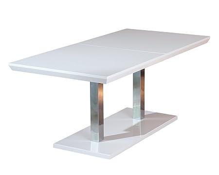 Esidra Attleboro Tavolo Allungabile, Legno, Bianco, 160x90x76 cm