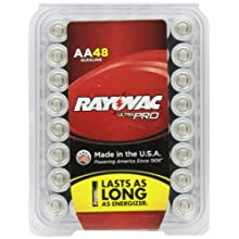 Rayovac Alkaline AA Batteries, 48-Pack with Recloseable Lid (ALAA-48)