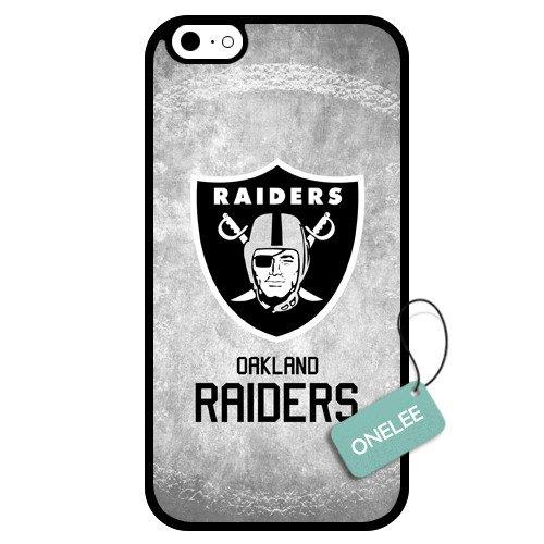 Onelee(Tm) - Customized Nfl Oakland Raiders Team Logo Design Tpu Apple Iphone 6 Case Cover - Black 01