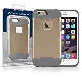 Tech Armor Active Sport Series Case for Apple iPhone 6 Plus/6s Plus (Gold-Cool Grey)