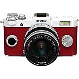 """Pentax Q-S1 Kit Compact numérique hybride 3"""" (7,62 cm) 12,4 Mpix USB Blanc/Rouge + Objectif 5-15 mm f2.8-4.5"""