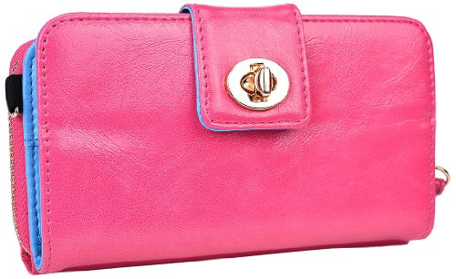Kroo Magnetic Clutch Wallet For Samsung Galaxy S3 - Frustration-Free Packaging - Baby Pink front-1063134