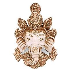 Collectible India God Ganesh wall hangings Hindu God Ganesh wall Decorative Figurines-Ganesha Wall Hanging mask