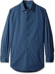Perry Ellis Men's Big and Tall Stretch Cotton Floral Print Shirt, Ink, 2X