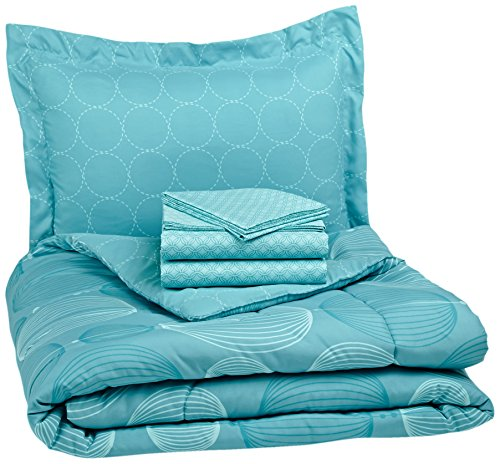 Sale!! Pinzon 5-Piece Bed In A Bag - Twin X-Large,  Industrial Vintage Teal