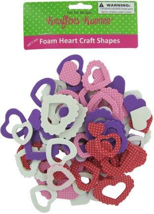 Foam Craft Heart Shapes - Case Pack 72 SKU-PAS777445