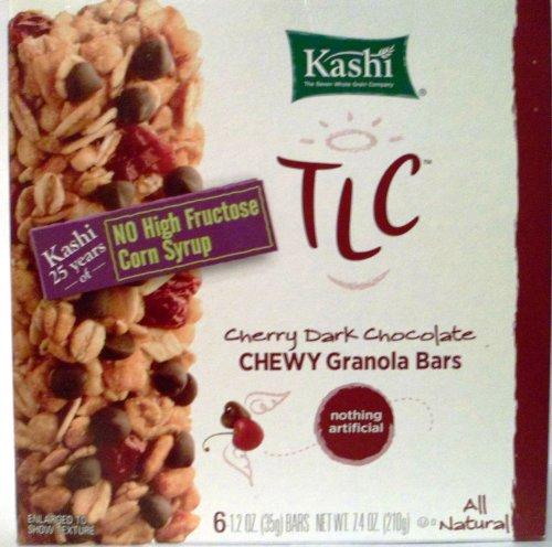 Kashi TLC Chewy Granola Bars Cherry Dark Chocolate 6 - 1.2 Oz (35g) Bars (Pack of 6)