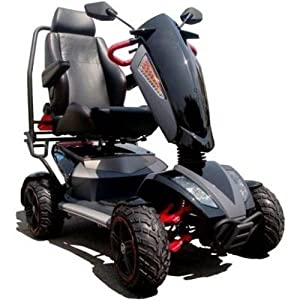 TGA Mobility Vita X Deluxe 4 All Terrain Class 3 Mobility Scooter - Metallic Black