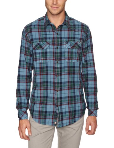 Timberland Plain Garment Dye Men's Shirt Aegean Blue XX-Large