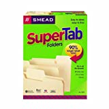 Smead SuperTab File Folders, Letter Size, 11 Point, 1/3 Cut Tab, Manila, 100 Per Box (10301)